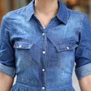 2015-new-fashion-women-denim-dresses-Half-Roll-Sleeve-Long-Denim-Dresses-smoke-banding-denim-dress-5