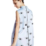 2016-Latest-New-Women-Casual-Blue-Eyes-Print-Sleeveless-Turtleneck-High-Street-Mini-Shift-Dress-2