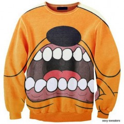 Couture-2016-new-fashion-men-women-autumn-sweatshirts-3D-Harajuku-print-cartoon-big-mouth-Adventure-Time-1