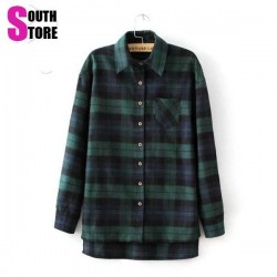 New-Arrival-2015-Classic-England-Plaid-Shirt-Women-Tops-Spring-Slim-Casual-Blouse-Long-Sleeve-Lapel-1