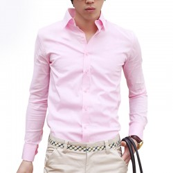 New-Fashion-Male-Slim-Fit-Formal-Long-Sleeve-Men-Shirt-White-Black-Solid-Color-Camisa-Social-1