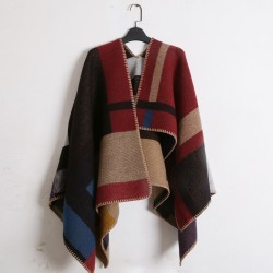Oversized-Sweater-Cardigan-European-Star-Catwalk-Street-Snap-Knitted-Cardigan-Plaid-Cape-Poncho-Women-asymmetrical-sweater-1