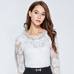 New-arrival-2015-Floral-lace-Tops-Women-basic-shirt-Long-sleeve-Plus-size-V-neck-lace-1