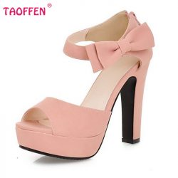 New-summer-Peep-toe-Ankle-strap-orange-Sweet-Thick-high-heel-Sandals-Platform-Lady-women-shoes-1