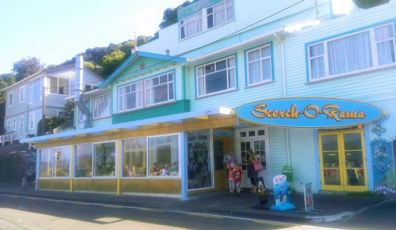 View of Scorch-O-Rama cafe at Scorching Bay