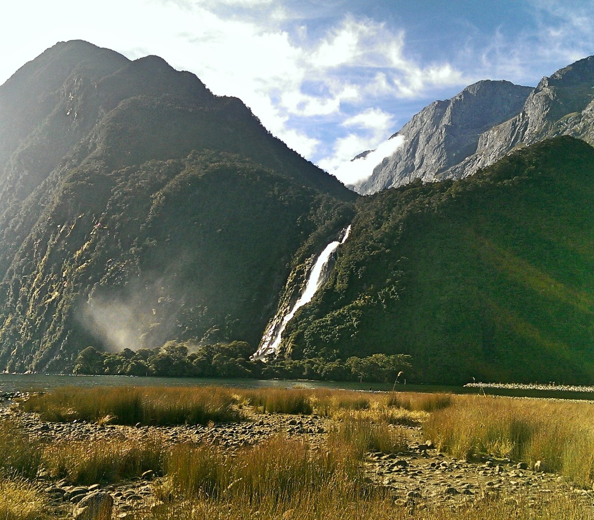 Waterfall, Stirling Falls, Te Anau, Milford Sound, Fiordland