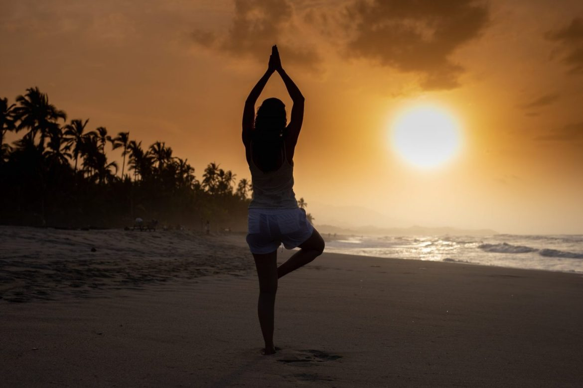 Yoga on beach free online workouts online workouts online yoga