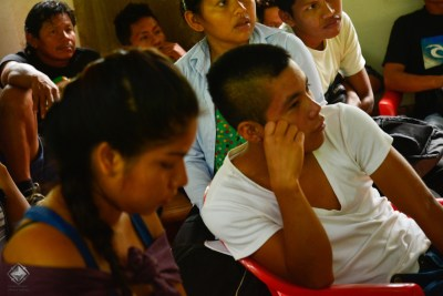 Shipibo participants paying close attention