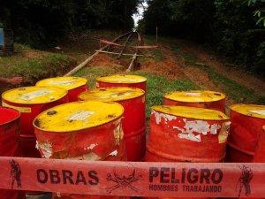 Danger: oil barrels