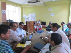 Meeting with local government