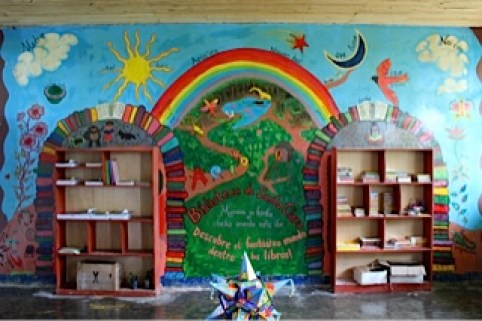 library and mural