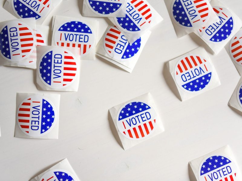 """""""I Voted"""" stickers"""