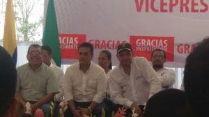 Vicepresidente German Vargas Lleras, Alcalde Puerto Caicedo Hugo Adrian Corrales