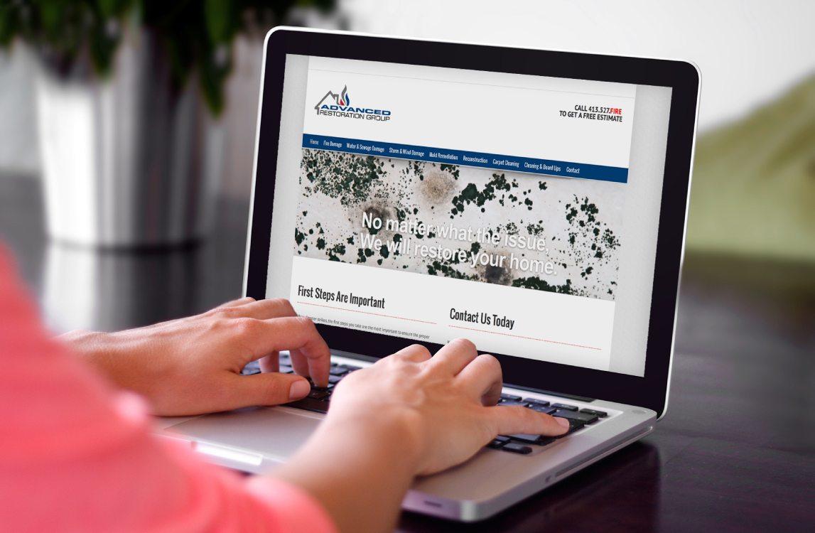 Advanced Restoration Group - Website Design Western Massachusetts