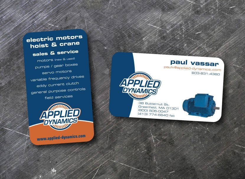 Applied Dynamics Business Card Graphic Design Greenfield, MA