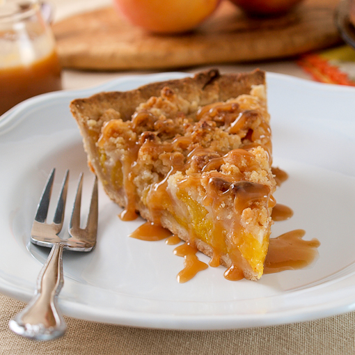 peach Crumb pie