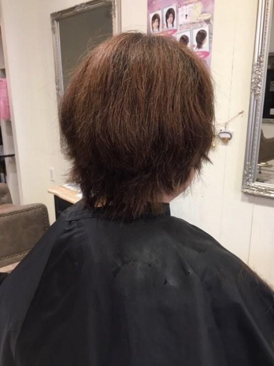 くせ毛のショートスタイル