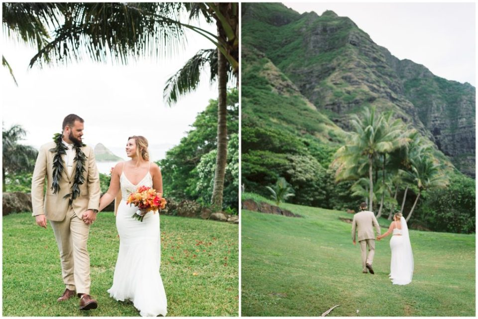 Tropical Elopement at Kualoa Ranch