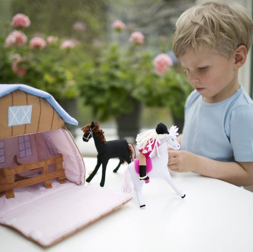 fabric pony stable