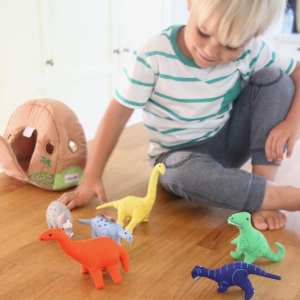 fabric dino rock play house