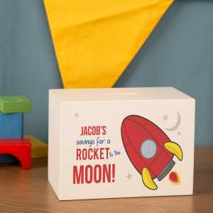Rocket Ship Money Box