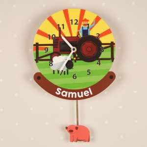 Personalised Tractor Pendulum Clock