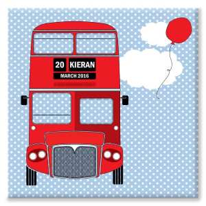 children's Red Bus Canvas