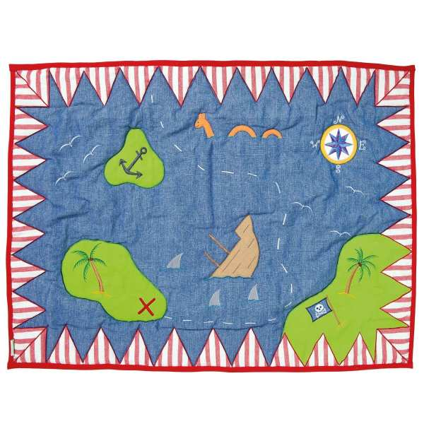 Pirate Floor Quilted Rug