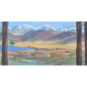 Aesthetic, prophecy, collage art, acrylic paintings, prophetic, arts on stage, art work, modern art, landscape art, landscape painting, mountains, trees, water, landscape paintings, mixed media art, representational art, fine art prints, peaceful images