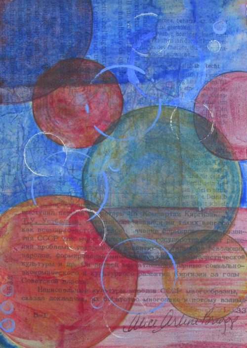 Joy Bubbles, circles, Abstract Artwork Modern Art Hope