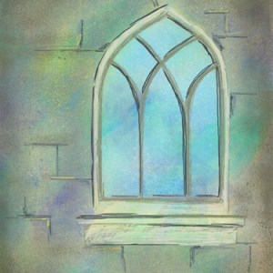 digital live worship painting window