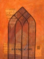 How to Paint Mixed Media Arched Window Classes for Beginners