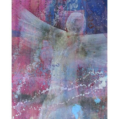 angel of hope, angel, hope, mixed media painting, monthly art box, intuitive painting, spiritual art, peace art, visionary art, representational art, mixed media art, intuitive, acrylic paintings, paintings, painting,