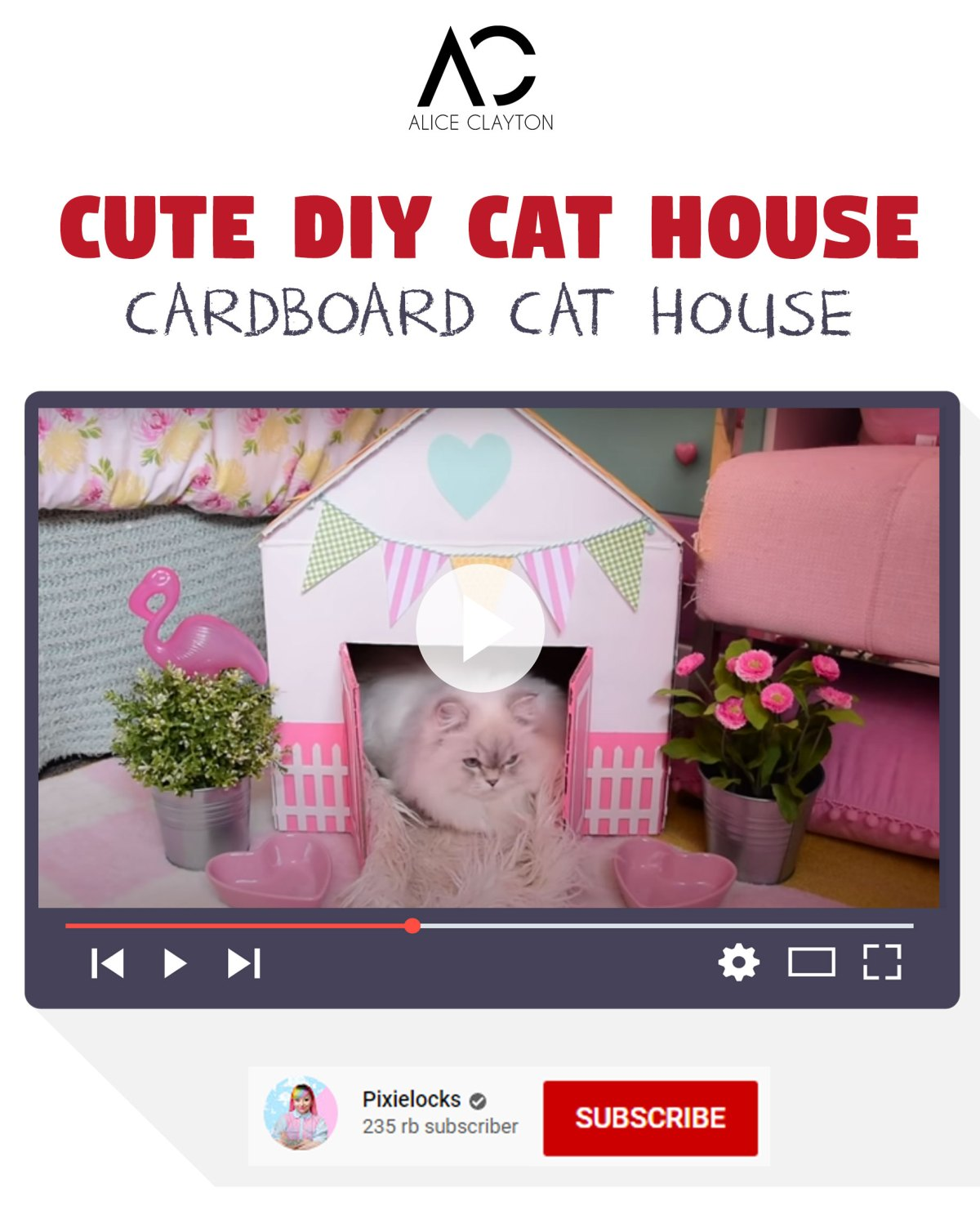 Cute DIY cat house