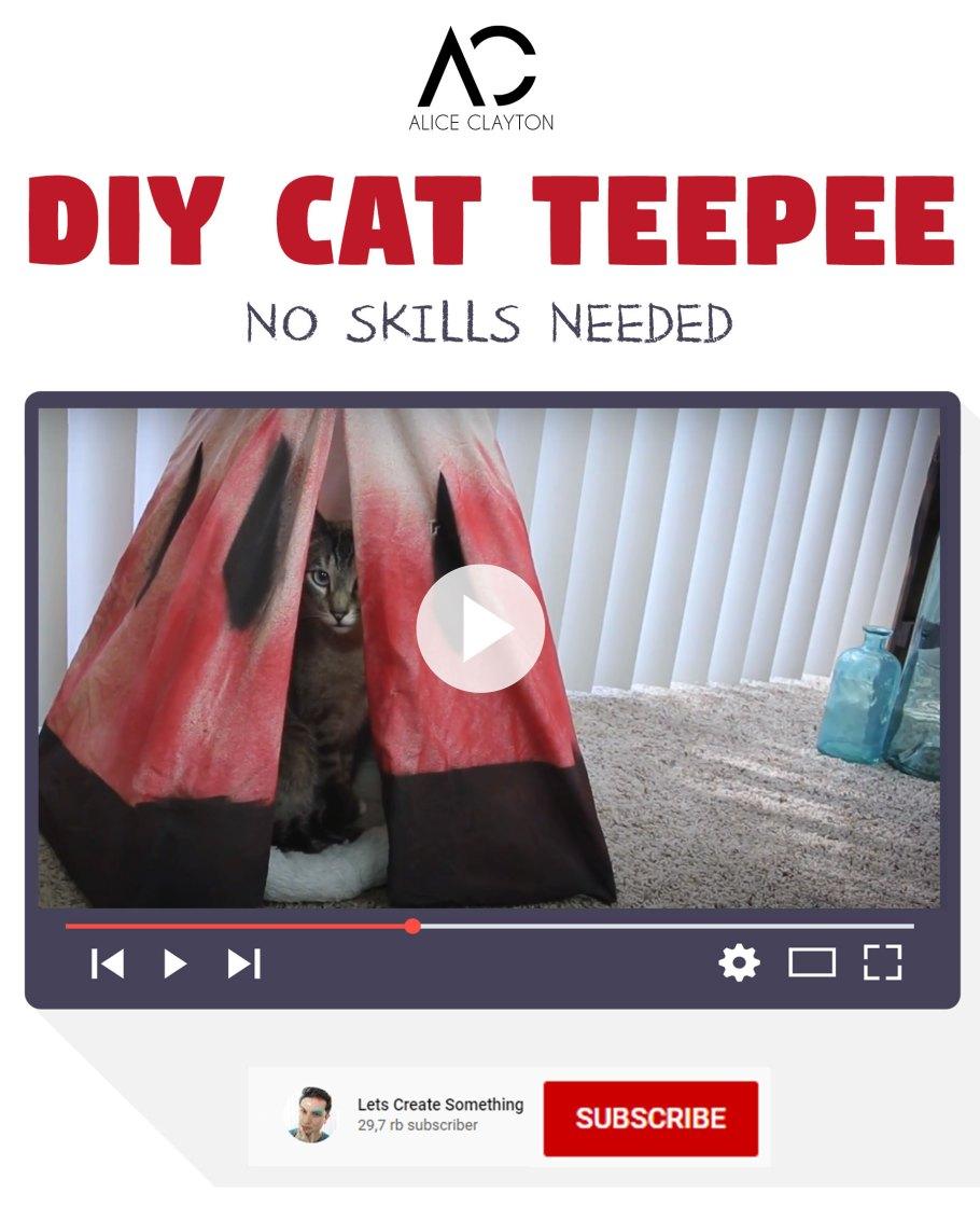 DIY Cat Teepee