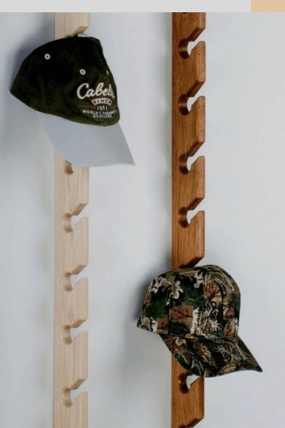 how to hang hats on wall without nails