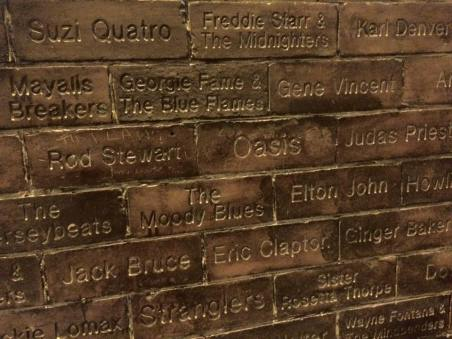 Cavern Pub wall of famous artists who have been to Liverpool