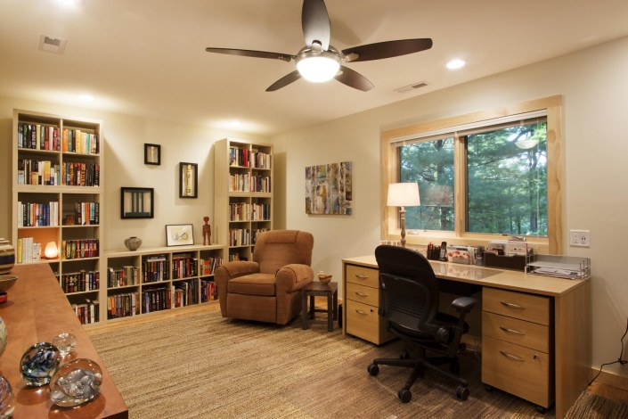 North Asheville ranch home office remodel