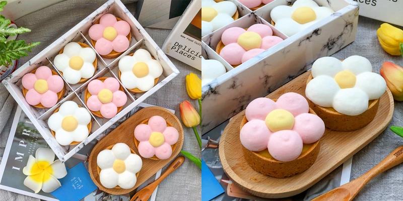 【台南美食】喔喔喔~你是我的花朵!!!可愛的小花檸檬塔好少女阿!!!《亖樓甜點工作室》|隱藏版美食| |台南甜點| |台南下午茶|