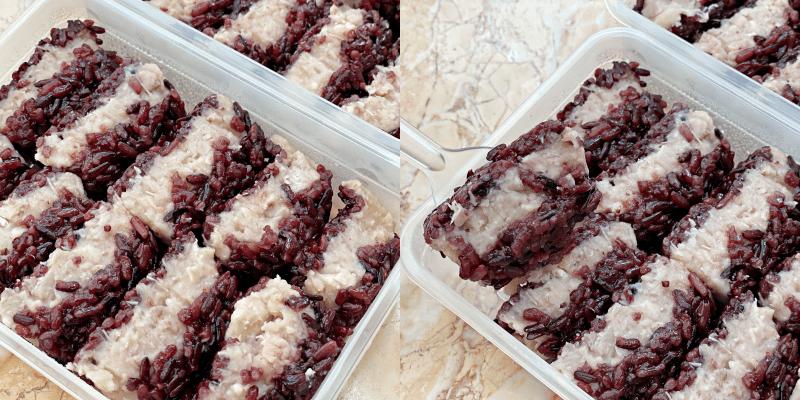 【台南美食】「厚餡芋泥紫黑米糕」超特別的隱藏版小吃!芋泥尬上米糕迸出新滋味~《愛柒Ai Chi》 |台南甜食| |甜點工作室| |台南小吃|