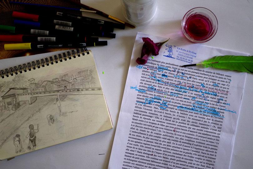écriture et dessin