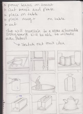 Visual Storyboard  Alicehardstone