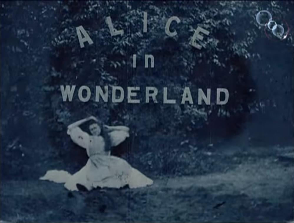 first alice in wonderland movie title card