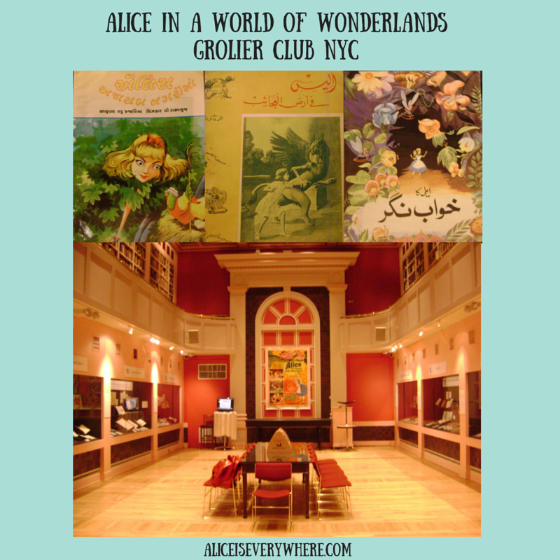 alice in wonderland exhibit at grolier club