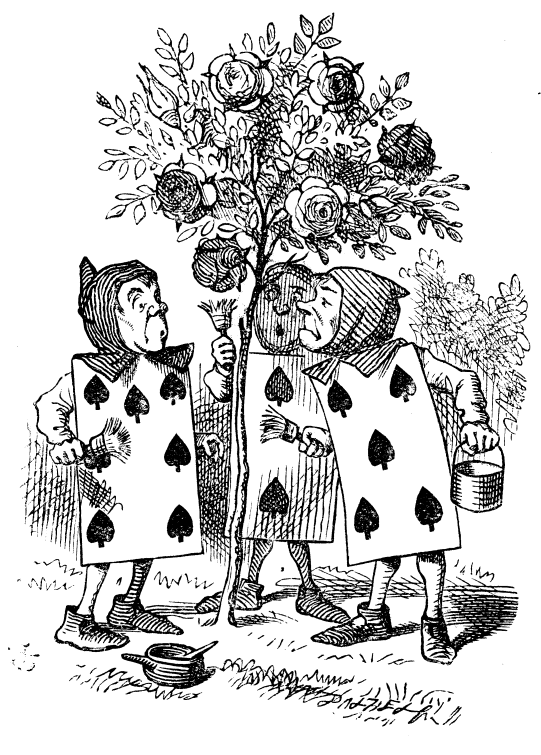 John Tenniel's gardeners paint the roses red