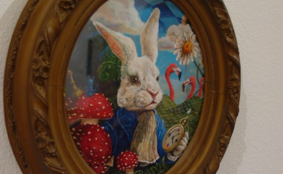 White Rabbit painting