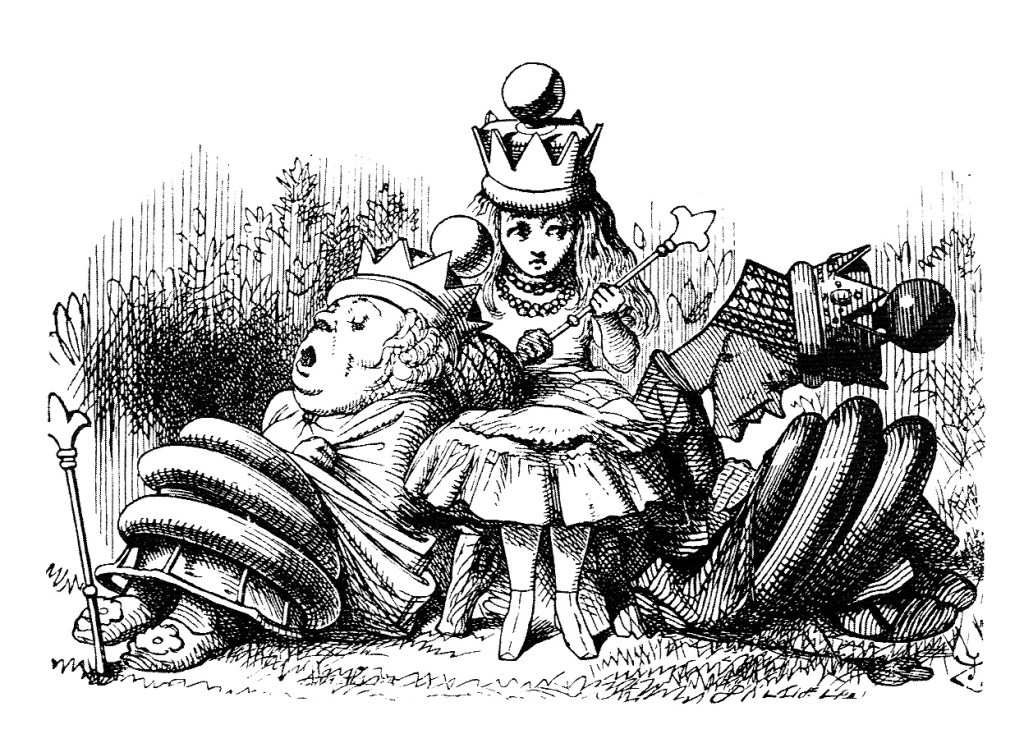 John Tenniel Queen Alice illustration