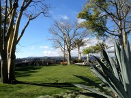 The front yard/backyard/entry to the $2M Schwartz home overlooks the Holmby Hills