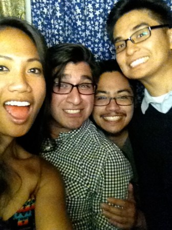 Shenanigans in the photobooth at Lo-Fi, celebrating Master MJ's huge milestone