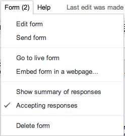 Form edit